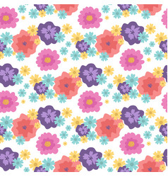 nature flower seamless pattern vector image