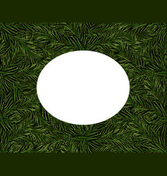new year christmas green branches of the vector image