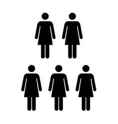 People icon group of women team glyph pictogram vector