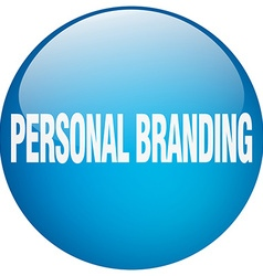 Personal branding blue round gel isolated push vector