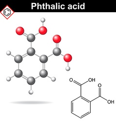 Phthalic acid molecule vector