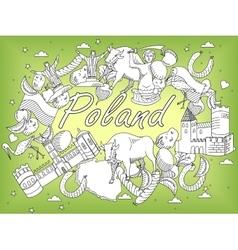 Poland coloring book vector image vector image