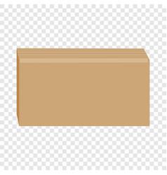sealed cardboard box mockup realistic style vector image vector image