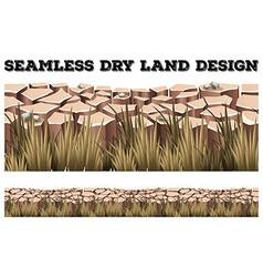 Seamless dry land with grass vector image