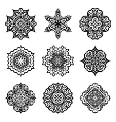 set of graphic abstract ornamental designs vector image