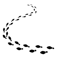 Set of shoeprints receding into the distance vector