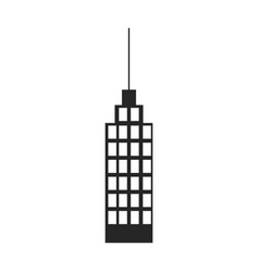 silhouette monochrome of building skyscraper with vector image vector image