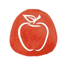 sketch of red apple vector image vector image