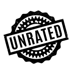 Unrated rubber stamp vector