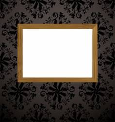 wood picture frame black vector image vector image