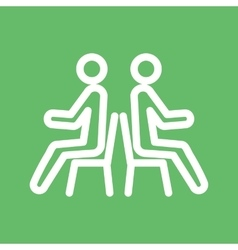 People sitting vector