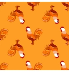 Seamless pattern with cock vector