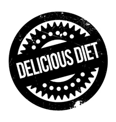 Delicious diet rubber stamp vector