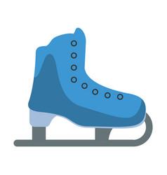 Ice skate sport leisure vector