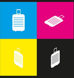 baggage sign   white icon with vector image