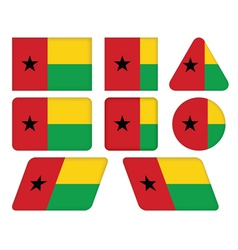 Buttons with flag of guinea-bissau vector