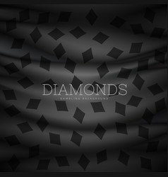 Diamond symbol dark pattern background vector