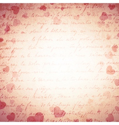 Vintage Love Romantic Background vector image