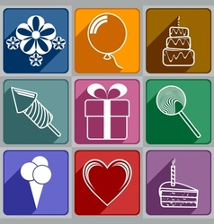 Icons to birthday vector
