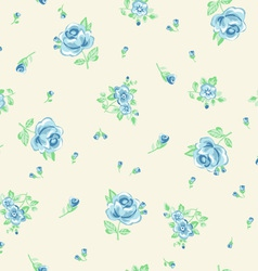 Ditsy blue roses vector