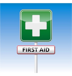 First aid traffic sign vector