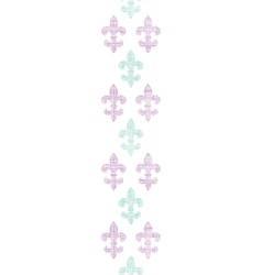 Abstract textile fleur de lis stripes vertical vector