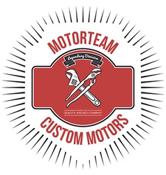 Motorteam custom motors t-shirt graphic vector