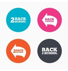 Back to school icons studies after the holidays vector