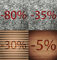 35 30 5 icon set of percent discount on abstract vector