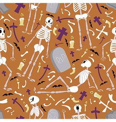 Halloween skeletons pattern 01 vector