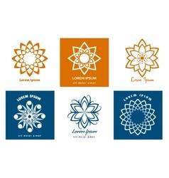 Geometric symbol logo templates vector image