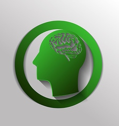 Icon head with brain mind and science vector