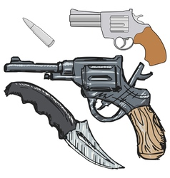 Vintage hand weapon vector