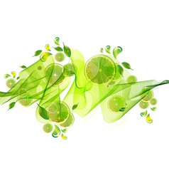 Citrus green abstract splash vector