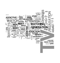 Are you addicted to tv text word cloud concept vector