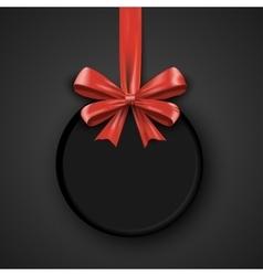 Birthday round design template invitation banner vector