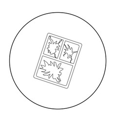 broken window icon in outline style isolated on vector image
