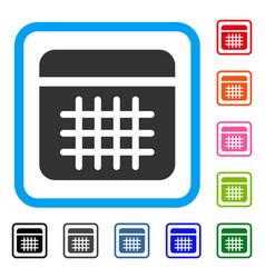 calendar framed icon vector image vector image