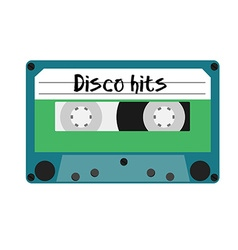 Cassette disco hits vector image