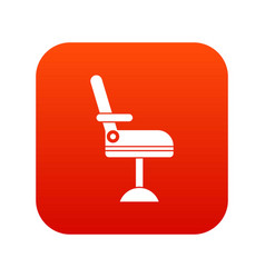 Chair icon digital red vector
