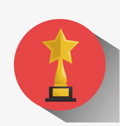 cinema award trophy icon vector image