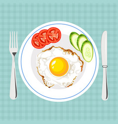colorful of tasty breakfast vector image
