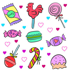 Doodle of candy colorful style vector