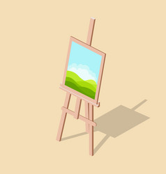 Easel with a picture isometric vector