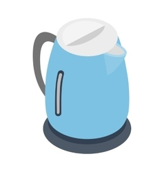 Electric kettle icon isometric 3d style vector