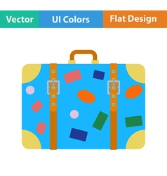 Flat design icon of suitcase vector image