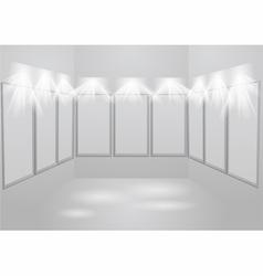 gallery light vector image