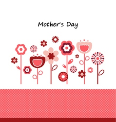 Greeting with flowers for Mothers Day vector image