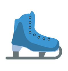 ice skate sport leisure vector image