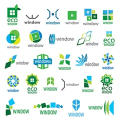 Large collection of logos window vector